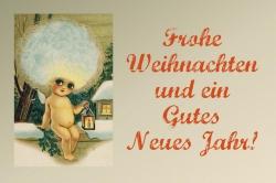 Weihnachts- und Neues Jahr Karte kostenlos