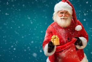 Santa-mit-Geschenk