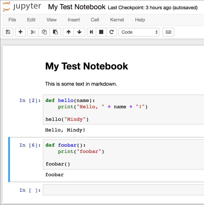Screenshot: Jupyter Notebook