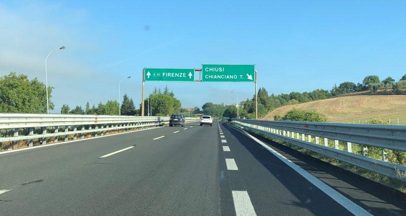 Abfahrt nach Montepulciano
