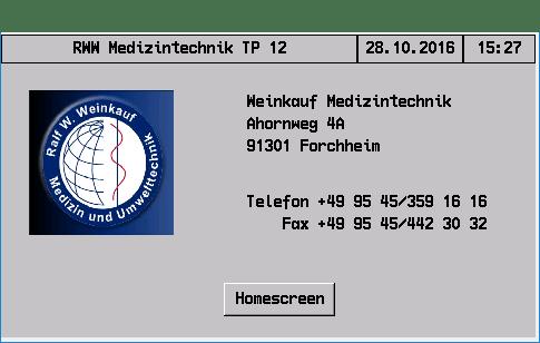 Startbildschirm