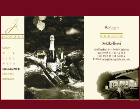 Weingut & Sektkellerei Jörg Bender Großbachtal 14 - 56850 Enkirch