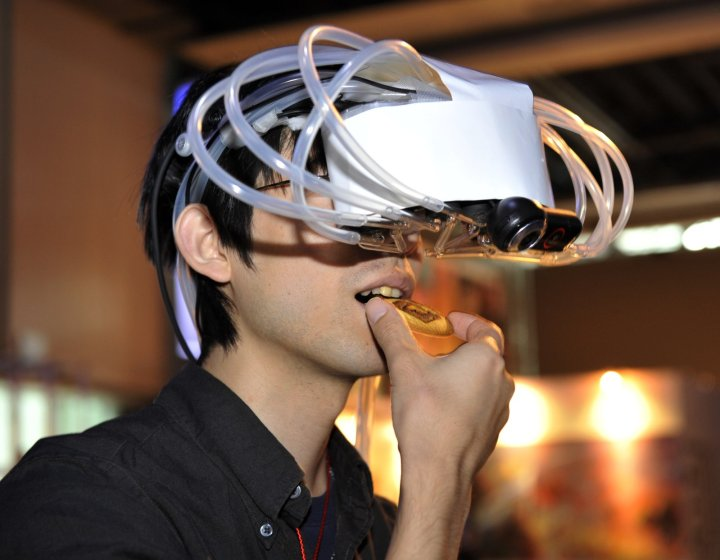 A student of Tokyo University eats a coo