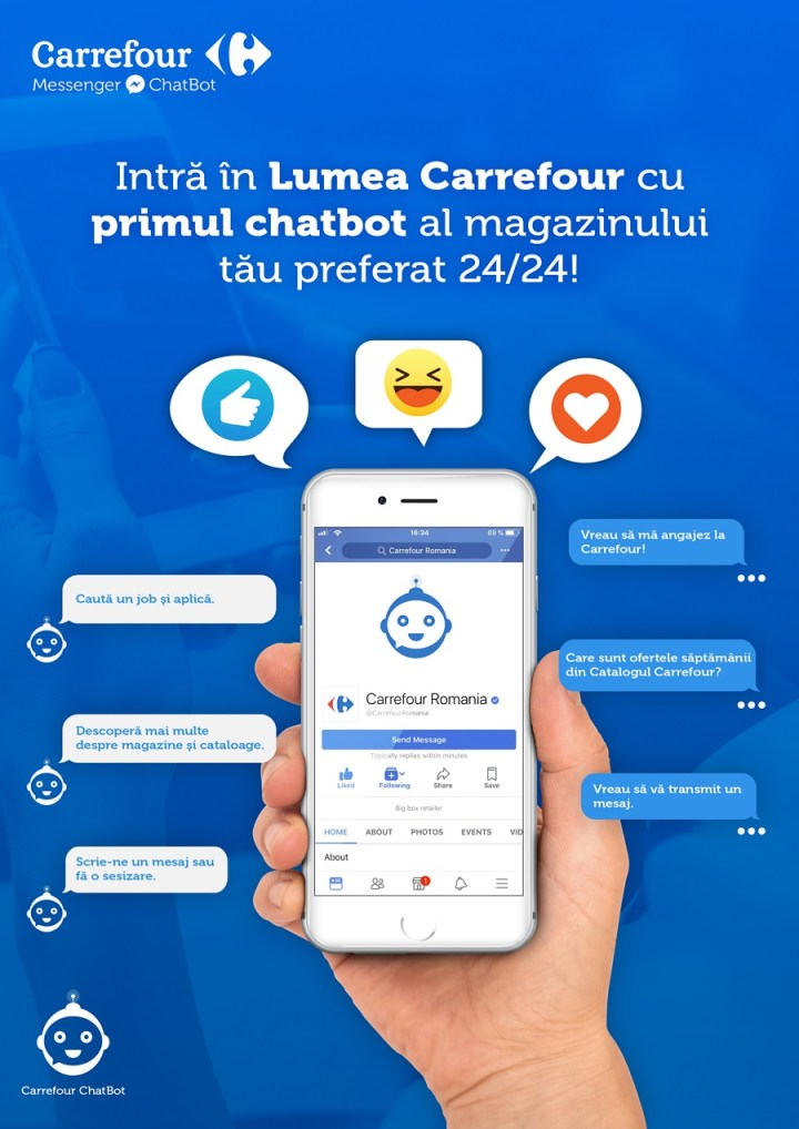Chatbot Carrefour Romania