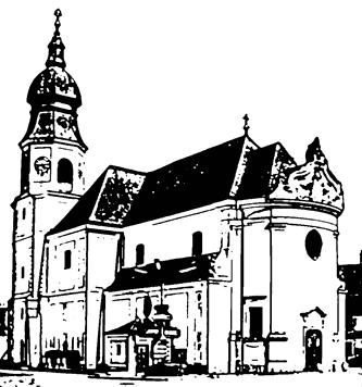 Zeichnung einer Kirche
