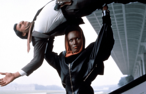 Grace Jones as May Day in her Power Outfit