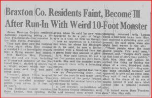 Original newspaper report