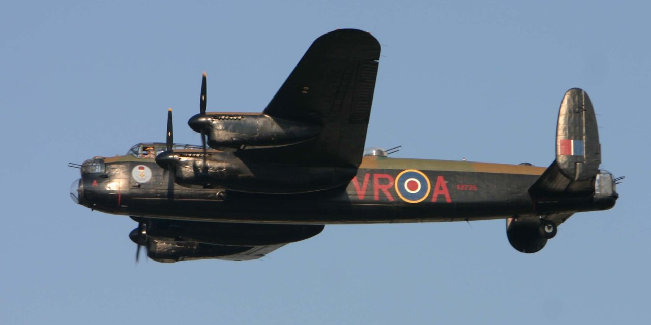 Derbyshire's Ghostly Lancaster Bomber Takes to the Air Again