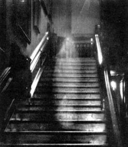 Ghosts haunt staircases