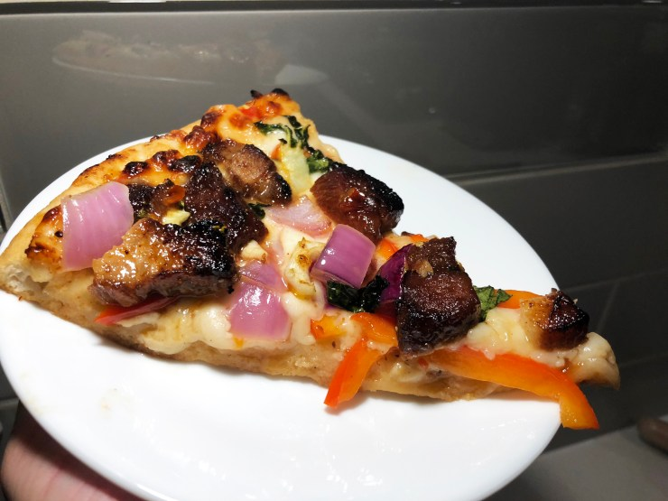 Szechuan Red Braised Pork Belly Pizza