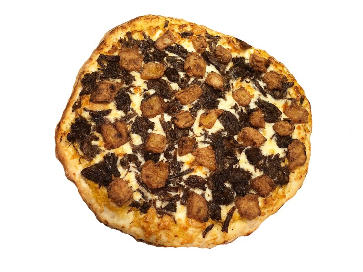 Fried Pumpkin and Beef Pizza