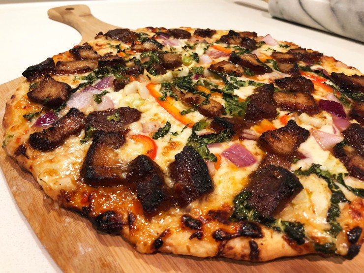 Szechuan Pork Belly Pizza