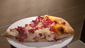 Reuben Pizza slice