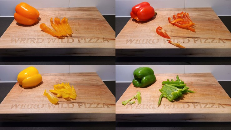 Red, Orange, Yellow and Green Peppers