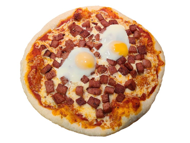Spam and Eggs Pizza Recipe