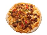 Sweet and sour pork pizza