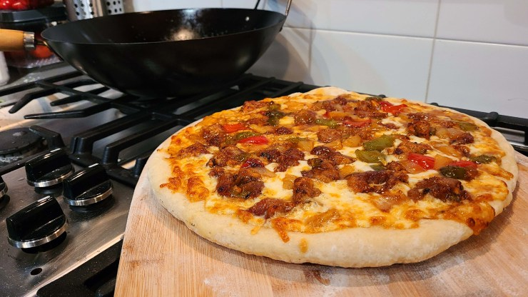 Sweet and sour pork pizza recipe