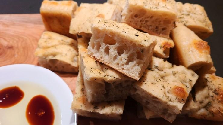 Sourdough focaccia bread recipe