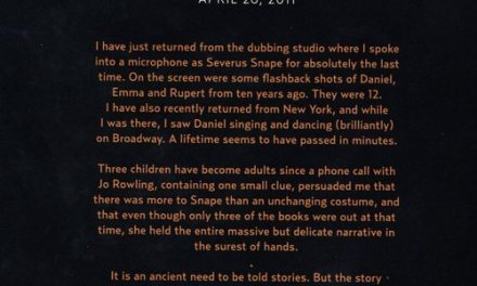 Alan Rickman's Farewell Letter. To Harry Potter… Not Life.