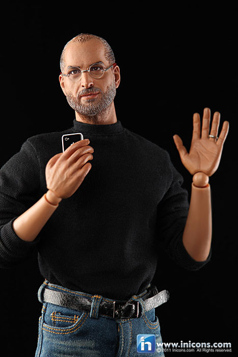 Steve Jobs Toy/Action Figure/ Doll Thing - Holding an iPhone