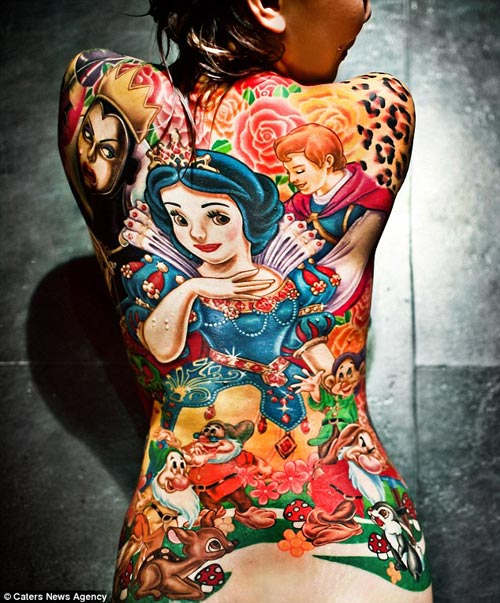 Amazing Disney Snow White Tattoo