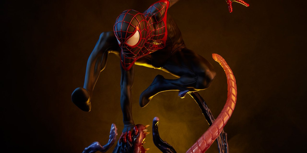Spider-Man Miles Morales PREMIUM FORMAT FIGURE from Sideshow Toys