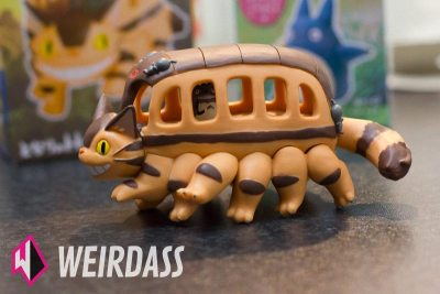 Left side of Catbus 3d puzzle from My Neighbor Totoro