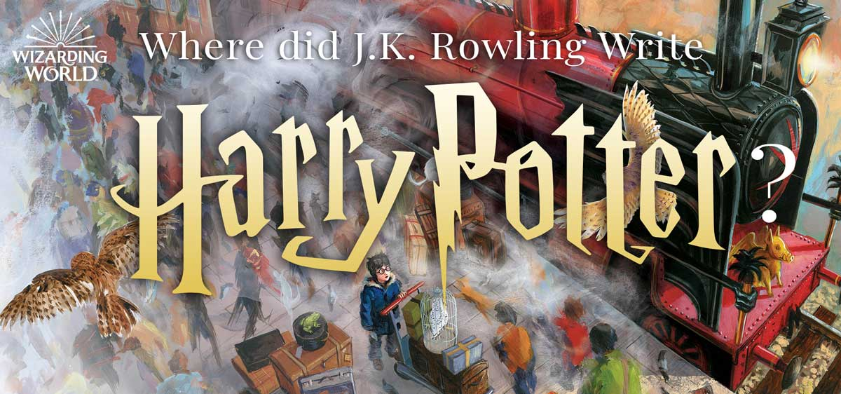 Where did JK Rowling Write Harry Potter?