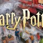 Where did JK Rowling Write Harry Potter?