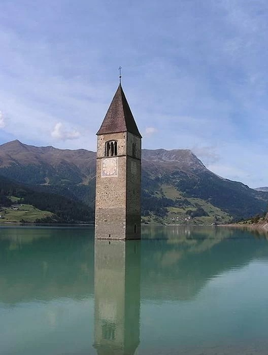 bell tower of submerged Curon