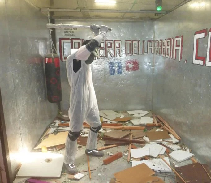 rage room in Italy