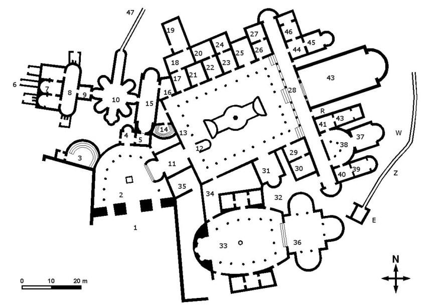 Villa del Casale map