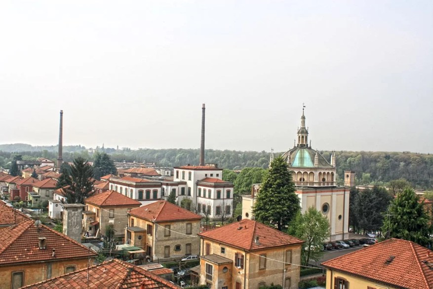 Crespi-d'Adda view Lombardy