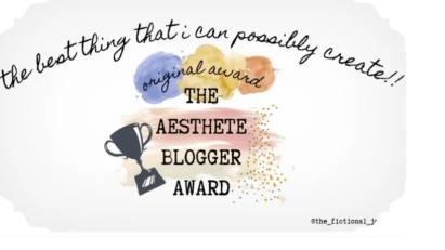 aesthetic blogger award logo