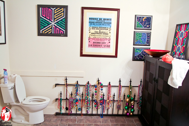 Even the bathroom is a display room!