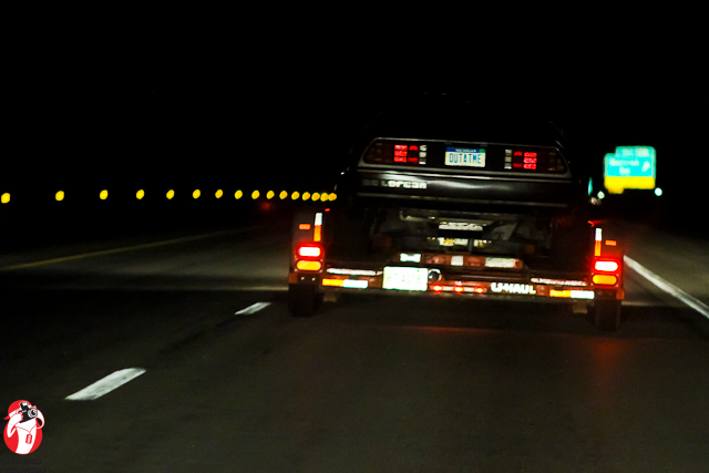 The plate on the Delorean was Outa tme and I was too!