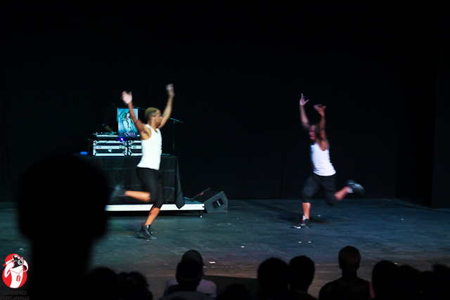 The crowd was as much a part of the concert as the dancers, standing, clapping, and swaying with the music