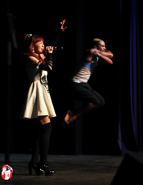 Things were jumping at the Salia concert, including the dancers!