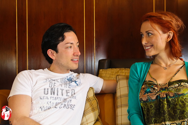 Todd Haberkorn and Amanda Doskocil during our interview at Anime World Indianapolis