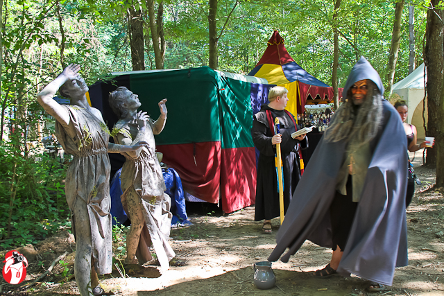 Living Statues, the Friar, and the Wizard