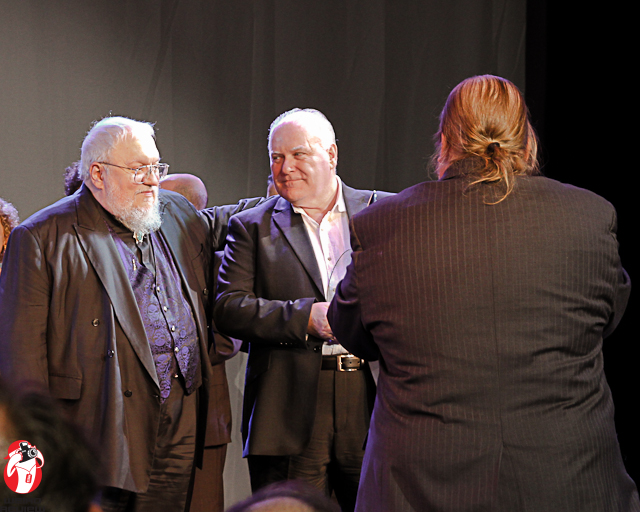 George R. R. Martin and Ron Donachie with the World Con 70 Staff Photographer