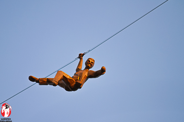 """Henry Brimmer's Art Prize 2012 entry """"Gravity Matters Little"""" now hangs over Monroe Center and Ionia"""