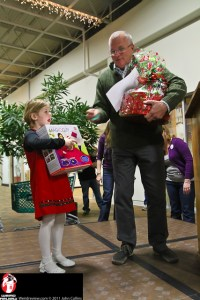 Raffle Recipients walked away with Christmas goodies