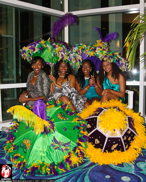 Queen Alexis Carter (far right) and members of her court