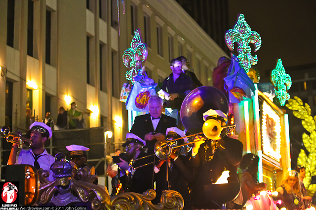 Music led the way of the Grand Marshal float