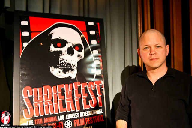 Retribution Pictures CEO and SAUPO guest speaker, John Ceallach at Shriekfest 2011