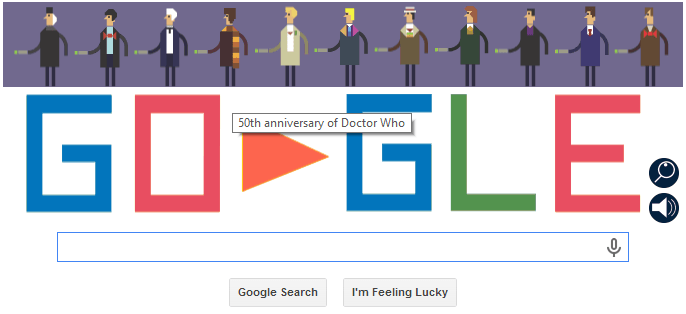Today's Google Home Page screen shot image courtesy Google