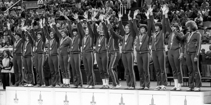 Women's national team of the USSR at the 1980 Olympic games in Moscow Image by Gazeta.ru