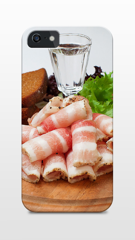 Vodka and salo (bacon)