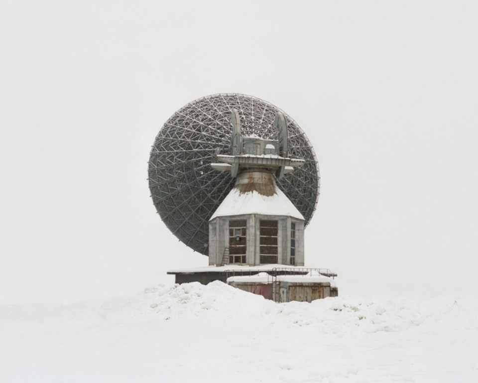 An antenna built for interplanetary connection. The Soviet Union was planning to build bases on other planets, and prepared facilities for connection which were never used and now lie dormant.
